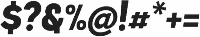 Andes Black Italic otf (900) Font OTHER CHARS