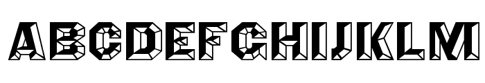 Angles Octagon Font LOWERCASE