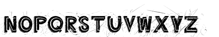 Angry Prego Font UPPERCASE