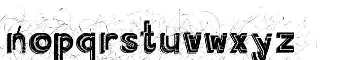 Angry Prego Font LOWERCASE
