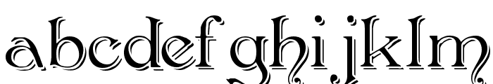 Antikvar Shadow Roman Font LOWERCASE