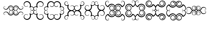 Anns Butterfly Scrolls Five Font OTHER CHARS