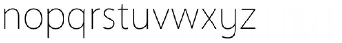 Anago Thin Font LOWERCASE