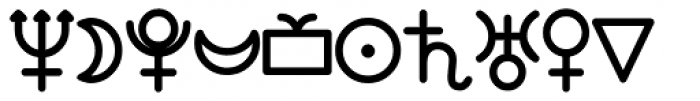 Anns Astro Heavy Font LOWERCASE