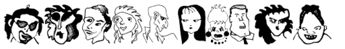 Anns Characters Font UPPERCASE