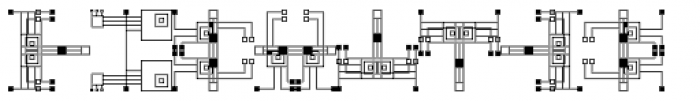 Anns Crop Circuits Three Font OTHER CHARS