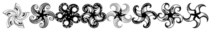 Anns Whirligig Five Font LOWERCASE