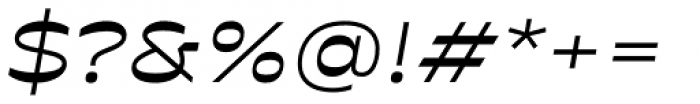 Antipol Extended Regular Italic Font OTHER CHARS
