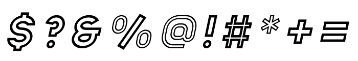 Apice Bold Outline Italic Font OTHER CHARS