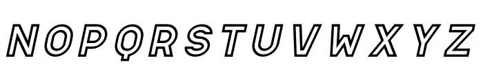 Apice Bold Outline Italic Font LOWERCASE