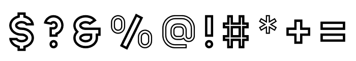 Apice Bold Outline Font OTHER CHARS