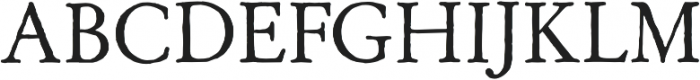 Archive Garamond Pro Regular otf (400) Font UPPERCASE