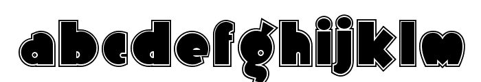 Arbuckle Inline NF Font LOWERCASE