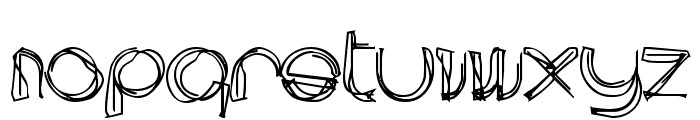 area LINEe Font LOWERCASE