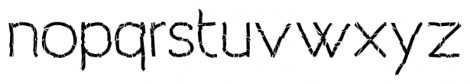 Archivio Crashed Font LOWERCASE