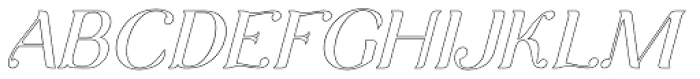 Arc Boutant Italic Stroked Font UPPERCASE