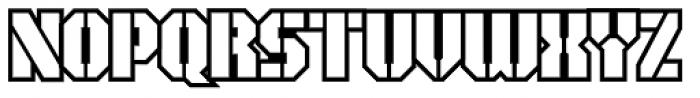 Area51 Military Open Font UPPERCASE