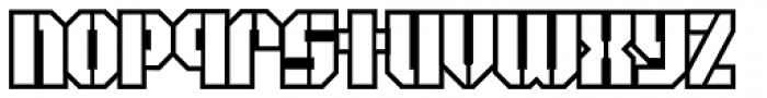 Area51 Military Open Font LOWERCASE