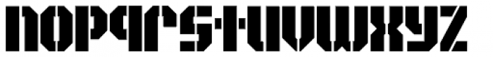 Area51 Military Solid Font LOWERCASE