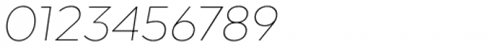 Arquitecta Standard Thin Italic Font OTHER CHARS