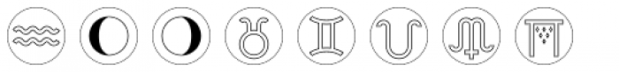 Astrotype P Dot Outline Font UPPERCASE