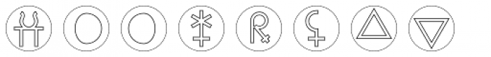 Astrotype P Dot Outline Font LOWERCASE