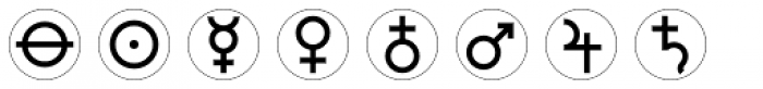 Astrotype P Dot Font OTHER CHARS