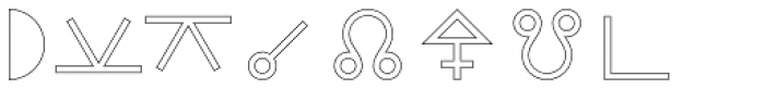 Astrotype P Outline Font LOWERCASE