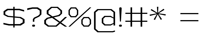 AthabascaExLt-Regular Font OTHER CHARS