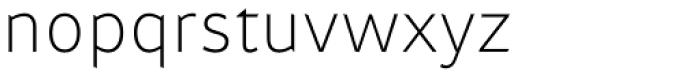 Attention Pro ExtraLight Font LOWERCASE