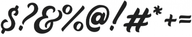 Auckland Script otf (400) Font OTHER CHARS