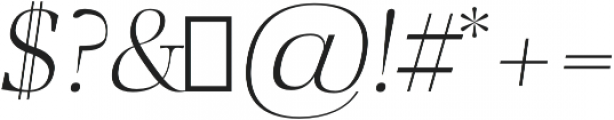Audrey H Light-italic otf (300) Font OTHER CHARS
