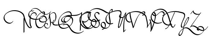 Austie Bost All My Love Font UPPERCASE