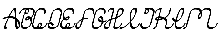 authentic love Font UPPERCASE