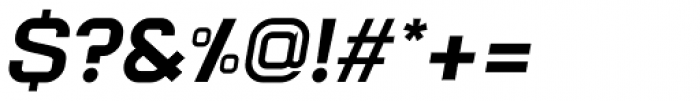 Augmento Extended Black Italic Font OTHER CHARS
