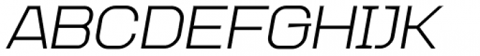Augmento Extended Italic Font UPPERCASE