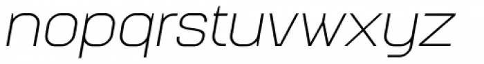 Augmento Extended Light Italic Font LOWERCASE