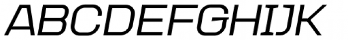 Augmento Extended Medium Italic Font UPPERCASE