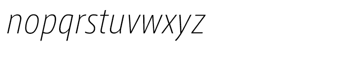 AXIS Font Latin Condensed Extralight Italic Font LOWERCASE