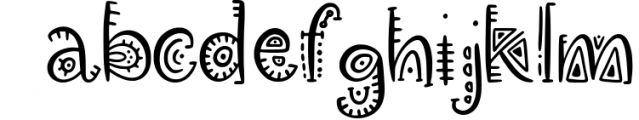 Aztec Soul. Tribal font with extras. Font LOWERCASE