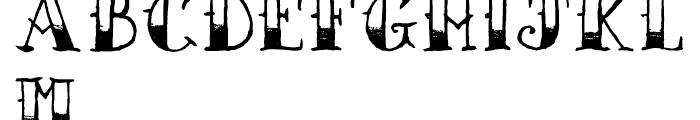 AZ Sailor Tattoo Font UPPERCASE