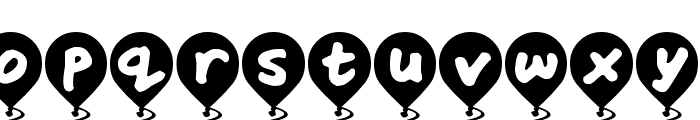 Balloon Floats Font LOWERCASE