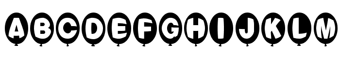 Balloons Normal Font UPPERCASE