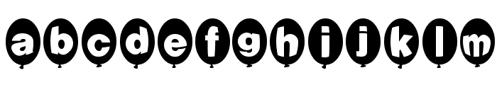 Balloons Normal Font LOWERCASE