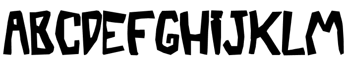 BarberaTwisted-Opaque Font UPPERCASE