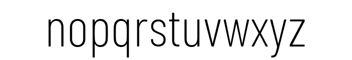 Barlow Condensed ExtraLight Font LOWERCASE
