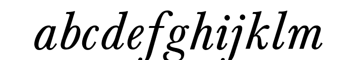 Baskerville-Normal-Italic Font LOWERCASE