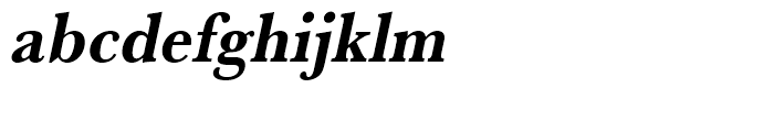 Baskerville Bold Extra Narrow Oblique Font LOWERCASE