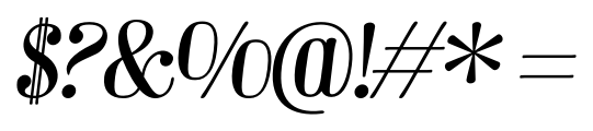 Barber 1 Italic Font OTHER CHARS