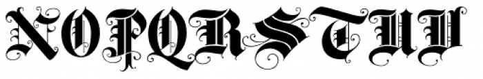 Baroque Text JF Font UPPERCASE